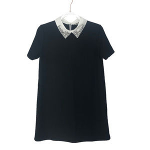Zara Trafaluc Jeweled Collar Dress